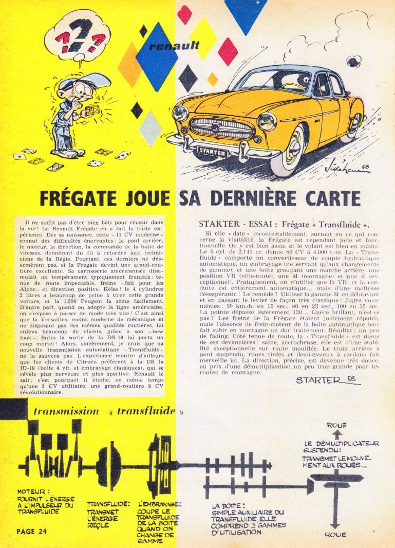 Chronique Frégate Transfluide dans le Journal Spirou n° 1066 du 18/09/1958