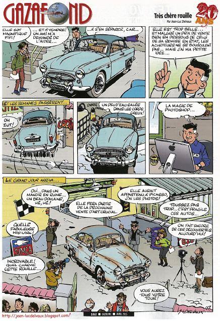 """Planche de """"Gazafond"""" par de déssinateur Jean-Luc Delvaux"""