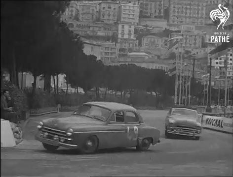 Une Frégate participe au Monte-Carlo 1954 - Archive Gaumont compilée par le Frégate Club de France